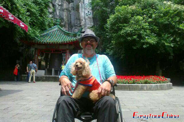 Easy Tour China Client Visiting a Park in Guilin