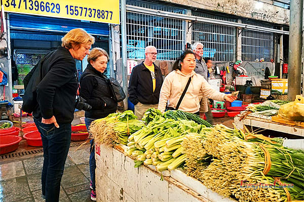 Visit a local market in China