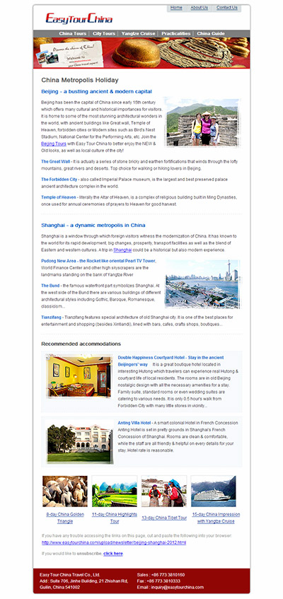 china travel newsletter china tour promotions