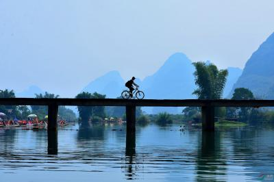 r1-day Guilin Bike Adventure Tour to the Wild Jungle and Waterfall