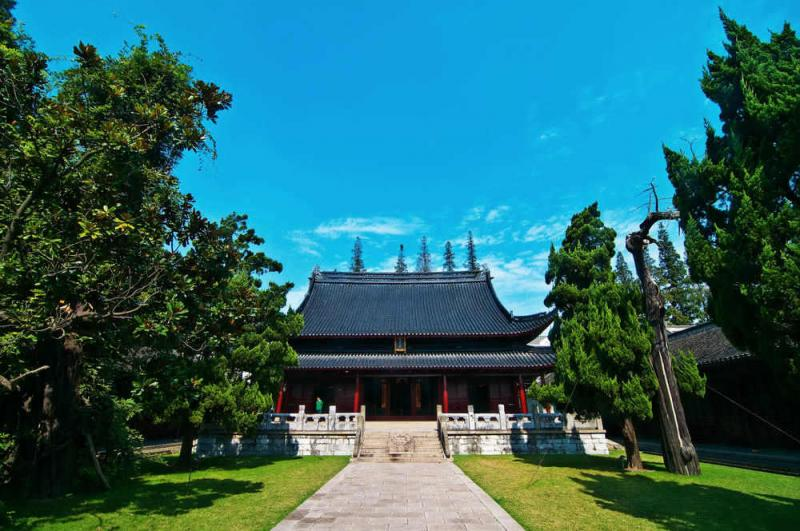The location of Shanghai's Confucian Temple