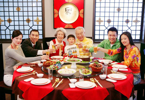 Modern restaurant table setting - 15 Day Celebrations Of Chinese New Year Spring Festival