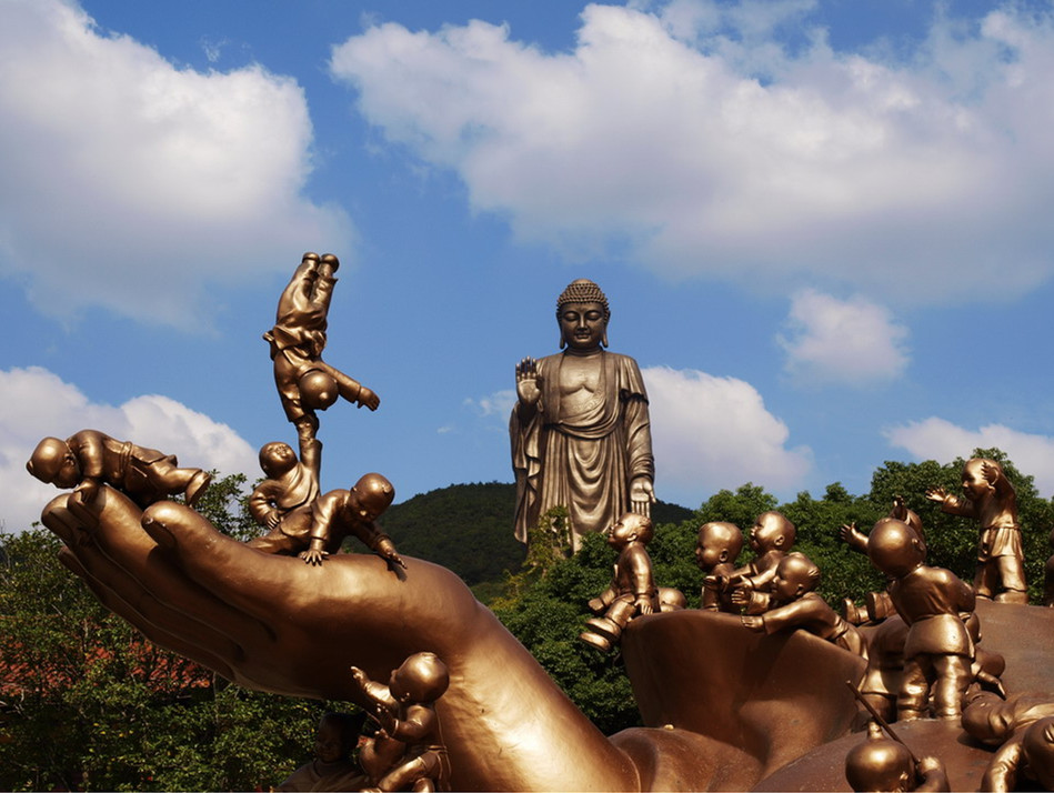 Statue of Sakyamuni at lingshan Park
