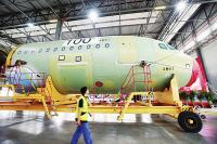 Plane Nose at Airbus Tianjin Assembly Plant
