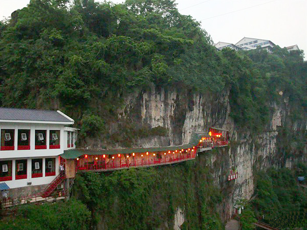 Amazing Fangweng Restaurant Above Yangtze River Easy Tour China