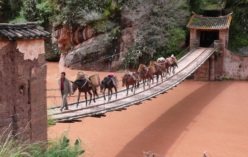 Bridge And Red River Travel Photos Of Ancient Tea Horse
