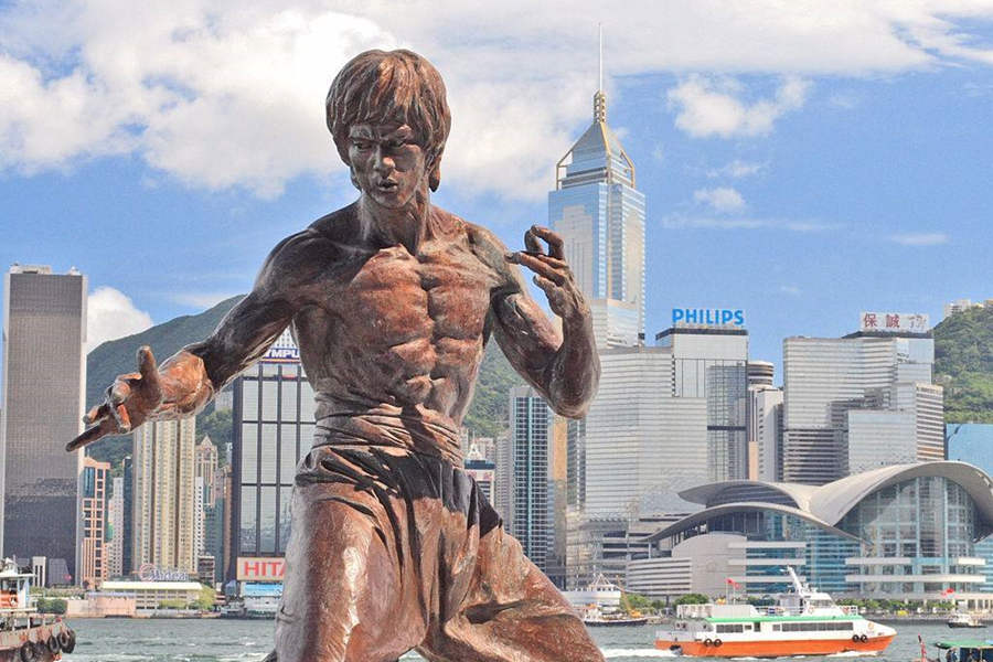 The Bruce Lee Statue at the Avenue of Stars