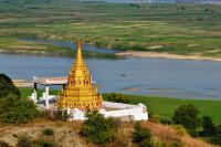 Golden Pagoda on Ayeyarwaddy River