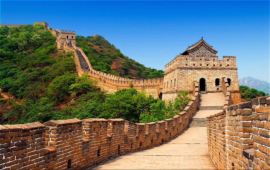 The Badaling Great Wall in summer season