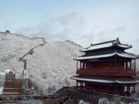 Beijing Badaling Great Wall Covered with Heavy Snow