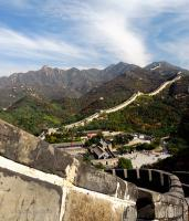 Badaling Great Wall in Spring
