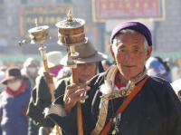 tibentan people and Prayer Wheel