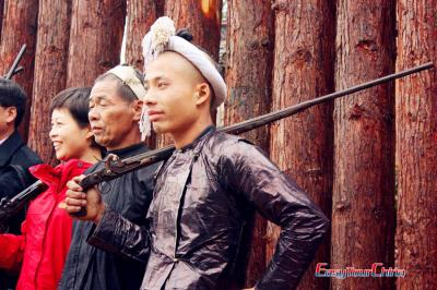 Basha Miao People with Their Guns