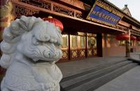 The Stone Lion beside Beijing Dragon Seal Wine winery