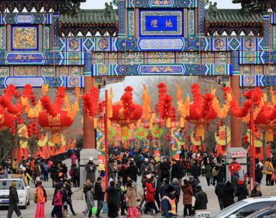 temple fair during Chinese New Year, a worst time to visit China