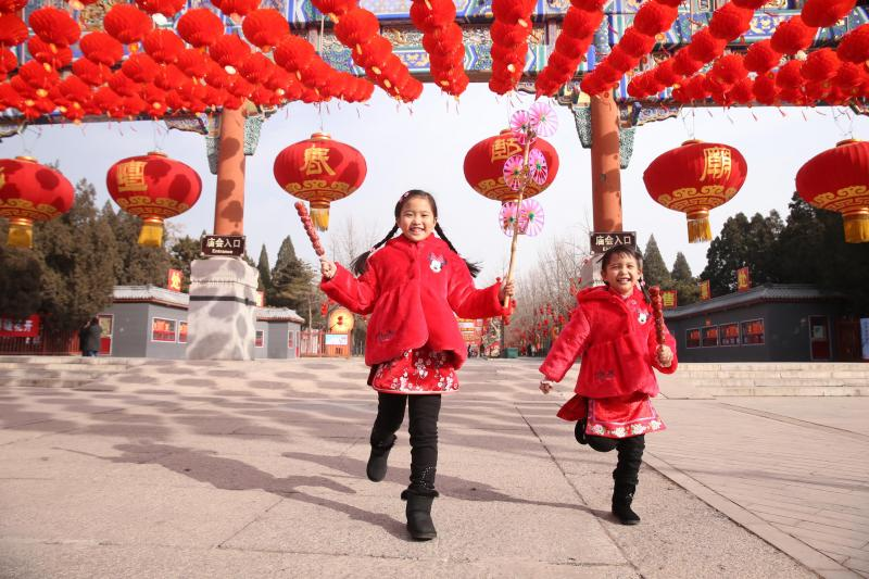 Beijing Temple Fair during Spring Festival