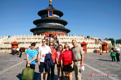 Family Visiting Beijing Temple of Heaven