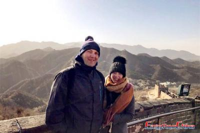 Easy Tour China Clients Visit Beijing Great Wall Mutianyu section