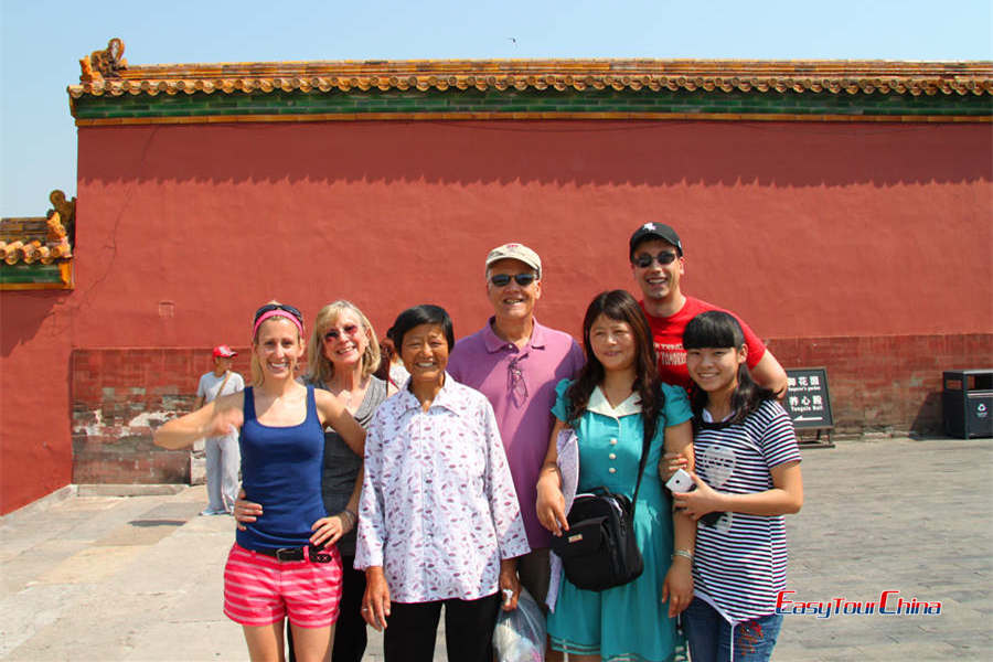A USA family visit Forbidden City
