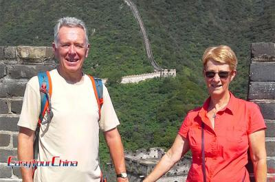 Senior Couple Visit the Great Wall of China