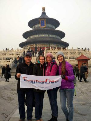 Australian Family Visited Temple of Heaven in Beijing