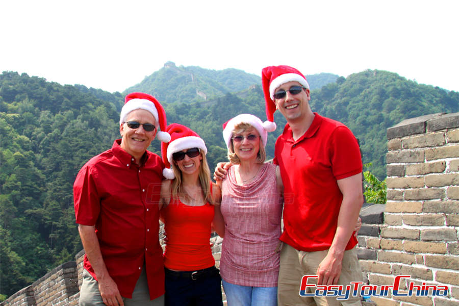 American Family Visiting Beijing Great Wall in 2014
