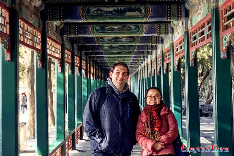 A client visit Summer Palace in winter season