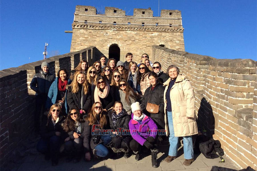 China Student Tour to Great Wall in 2016
