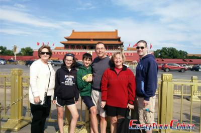 Families from USA Visiting Beijing Tiananmen Square in 2015