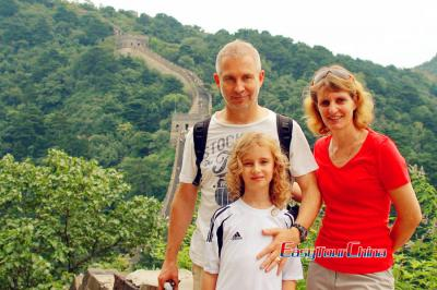Family from UK visiting Great Wall for Summer Vacation