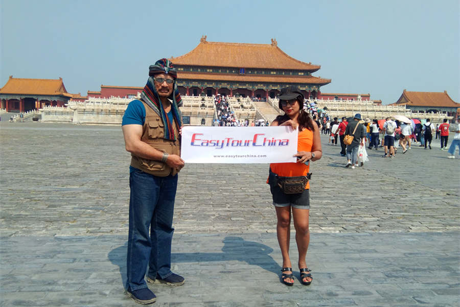 Couple clients of ETC visit Forbidden City in Winter