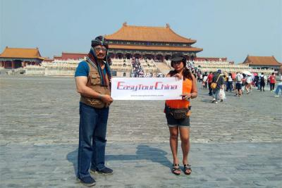 Indian Couple Visited Forbidden City Beijing