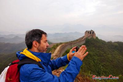 American Customer Visiting Great Wall in 2017