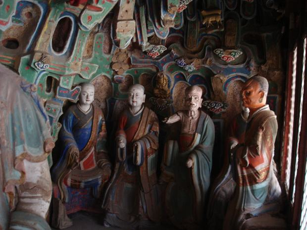 Travel Photos of China Buddhism Colored Buddha Statues