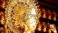 Travel Photos of China Buddhism Golden Bodhisattva