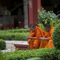 Monks at Cambodia National Museum