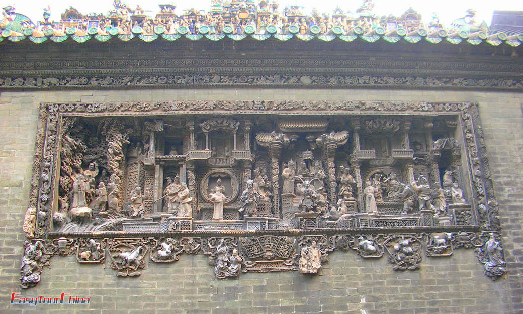 The beautiful wooden carving of Chen Family Temple