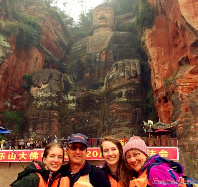 Family Tour to Leshan Giant Buddha in 2015