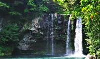 Cheonjiyeon Waterfalls on Jeju Island