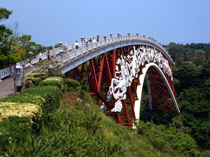 Arch Bridge on Cheonjiyeon Waterfalls