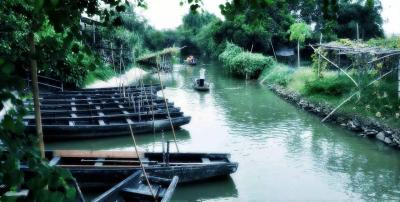 Boating at Gulao Water Town Guangdong