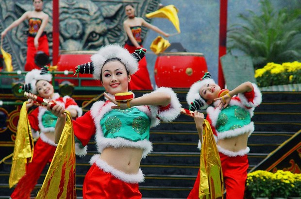 China Folk Culture Villages Minority Show