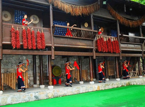 China Folk Culture Villages Tujia People