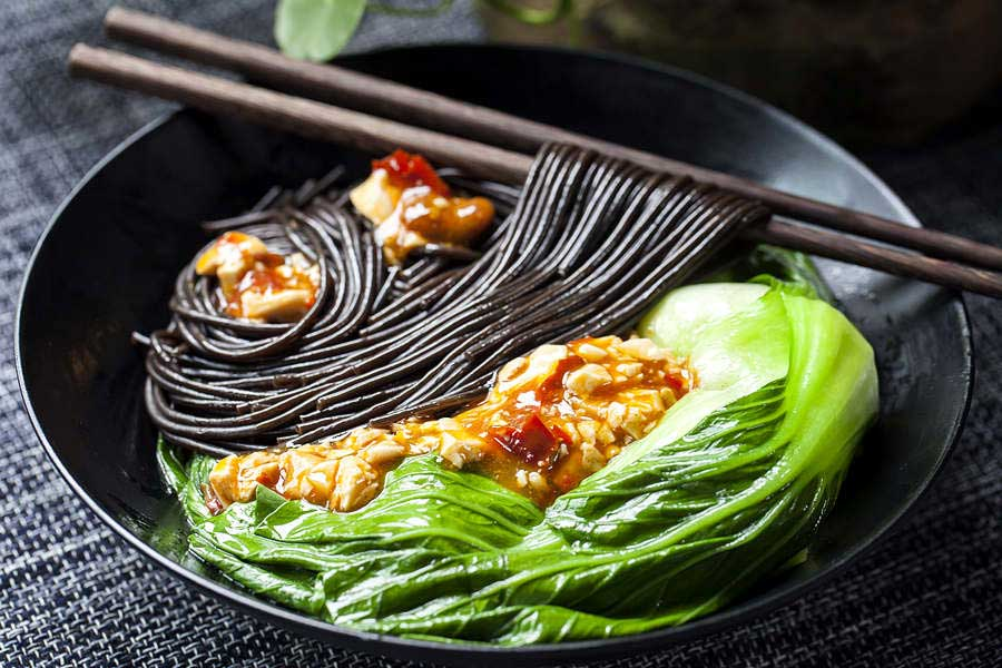 Fern Root Noodles is a popular vegan food to eat in China