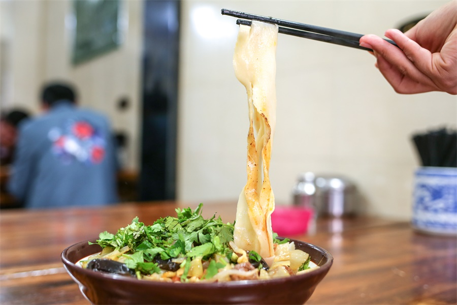 Noodles is one of the vegetarain food in China