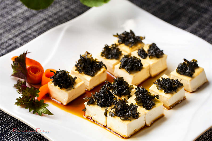 Tofu is one of the most popular vegetarian dishes in China