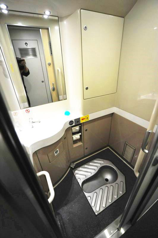 toilets on bullet train in China