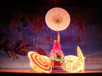 Acrobatics Show With Paper Umbrella