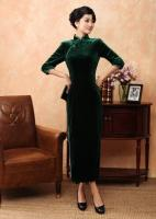 Dark Green Chinese Cheongsam