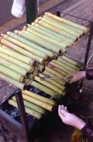 Bamboo-tube-cooked rice